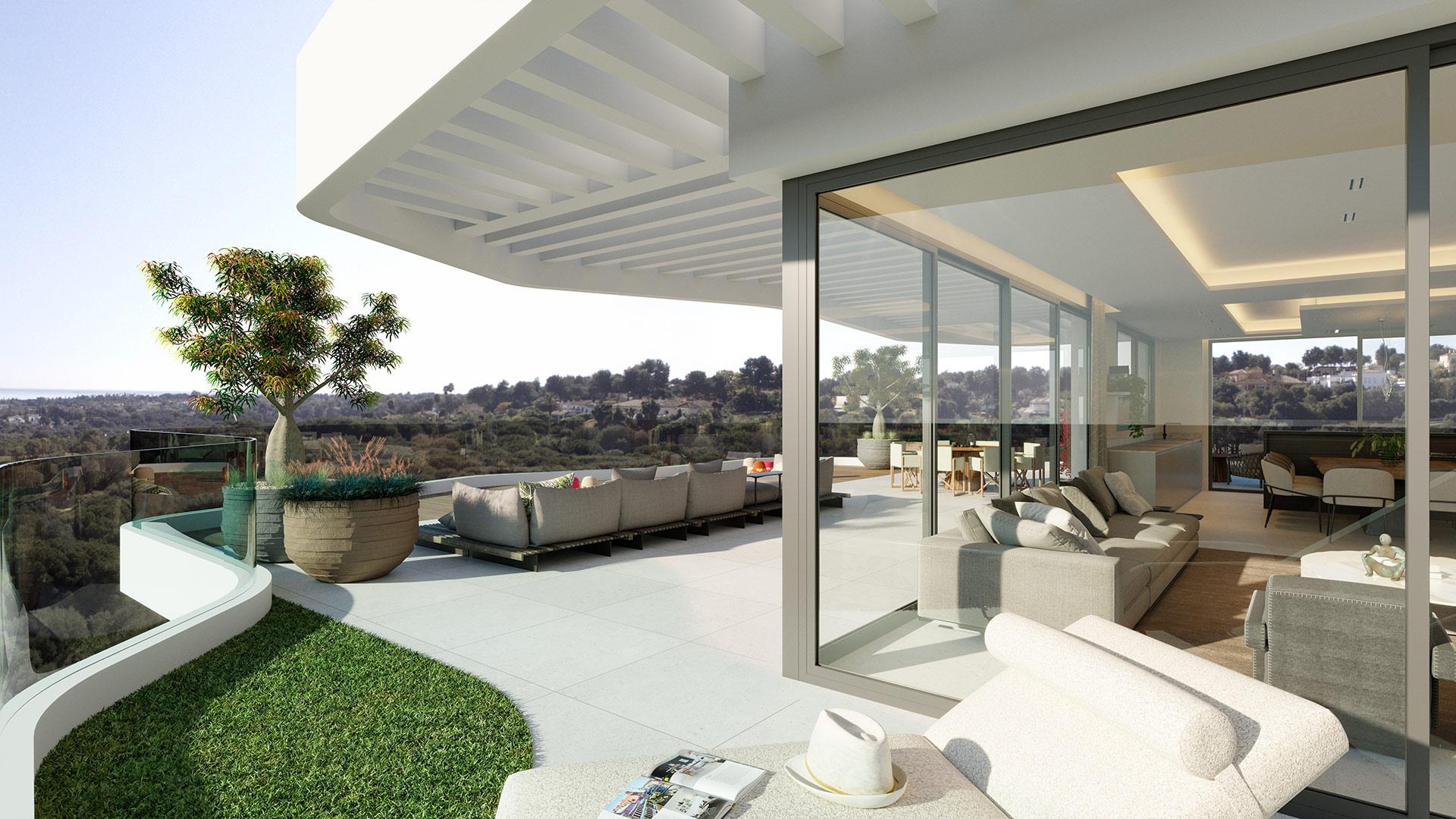 Village Verde Sotogrande - penthouse terrace view