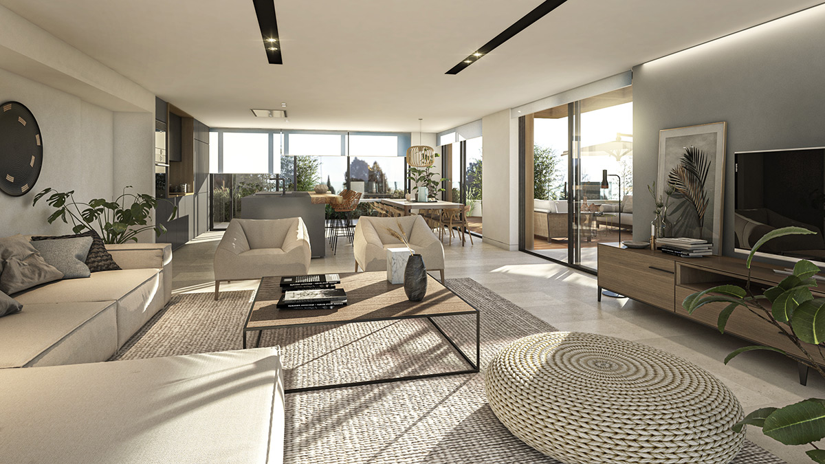 Luxury penthouse in sotogrande living room